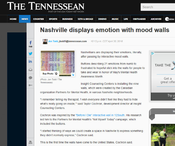Nashville Displays Emotion With Mood Walls
