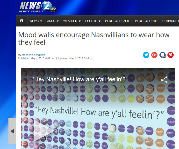 Mood Walls Encourage Nashvillians To Wear How They Feel
